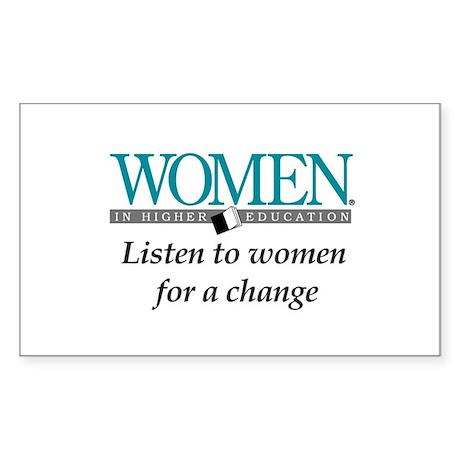 Women in Higher Education Rectangle Sticker