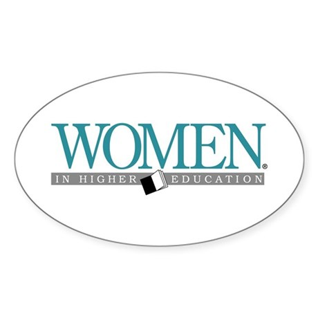 Women in Higher Education Oval Sticker