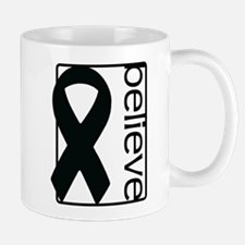White (Believe) Ribbon Mug