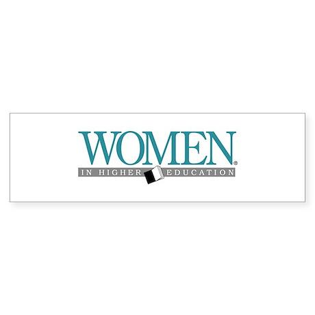 Women in Higher Education Bumper Sticker