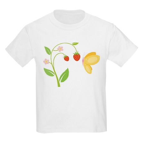 Butterfly & Strawberries Kids Light T-Shirt