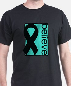 Turquoise (Believe) Ribbon T-Shirt