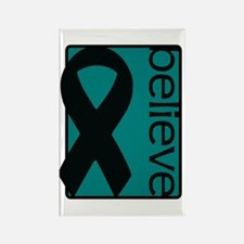 Teal (Believe) Ribbon Rectangle Magnet