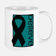 Teal (Believe) Ribbon Mug