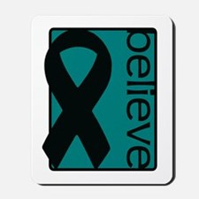 Teal (Believe) Ribbon Mousepad