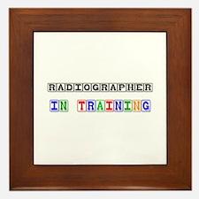 Radiographer In Training Framed Tile