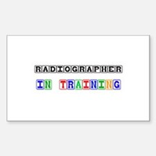 Radiographer In Training Rectangle Decal