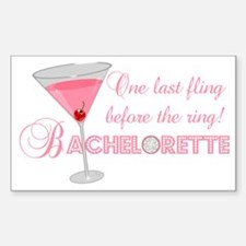 Bachelorette Rectangle Decal