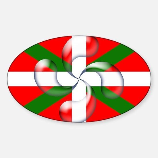 """Lauburu """"bubble"""" Oval Sticker (10 pk)"""