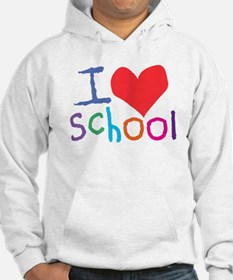 I Love (Heart) School Jumper Hoody
