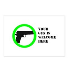 """Your Gun is Welcome"" Postcards (Package"