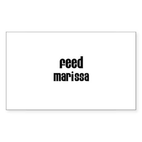 Feed Marissa Rectangle Sticker