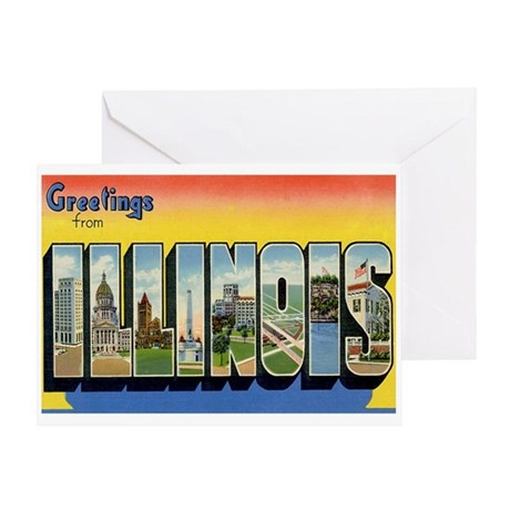 Illinois IL Greeting Card