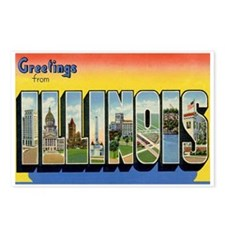 Illinois IL Postcards (Package of 8)