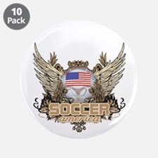 """Soccer America 3.5"""" Button (10 pack)"""