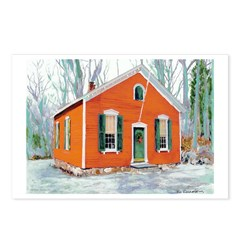 Little Red School House Postcards (Package of 8)