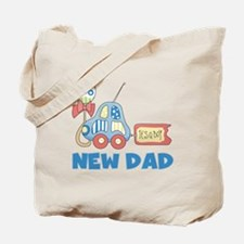 New Dad Baby Boy Tote Bag