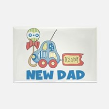 New Dad Baby Boy Rectangle Magnet