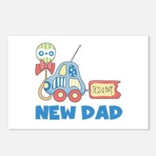 New Dad Baby Boy Postcards (Package of 8)
