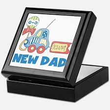 New Dad Baby Boy Keepsake Box