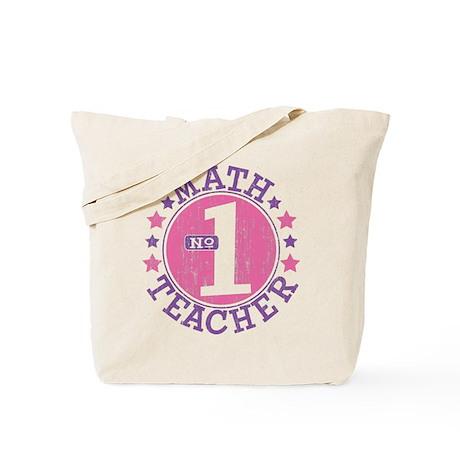 #1 MATH TEACHER (Pink) Tote Bag