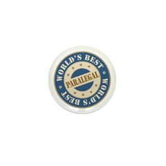 World's Best Paralegal Mini Button (100 pack)