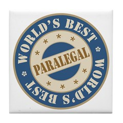 World's Best Paralegal Tile Coaster