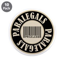 "Paralegals Priceless Bar Code 3.5"" Button (10 pack"