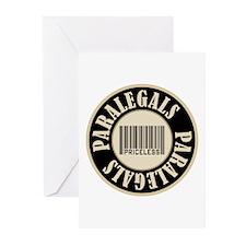 Paralegals Priceless Bar Code Greeting Cards (Pk o