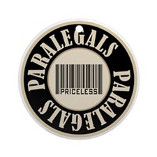 Paralegals Priceless Bar Code Ornament (Round)