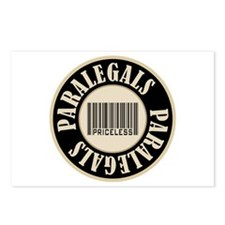 Paralegals Priceless Bar Code Postcards (Package o