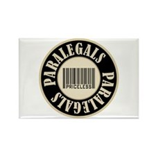 Paralegals Priceless Bar Code Rectangle Magnet