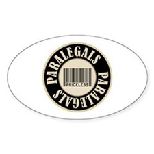 Paralegals Priceless Bar Code Oval Sticker (10 pk)