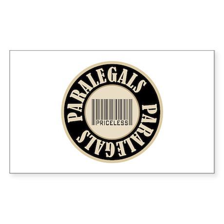 Paralegals Priceless Bar Code Rectangle Sticker