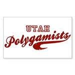 Utah Polygamists Official App Sticker (Rectangular