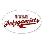 Utah Polygamists Official App Oval Sticker