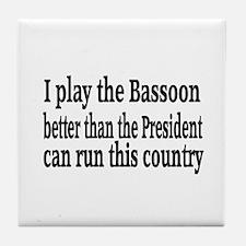 Bassoon Tile Coaster