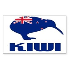 New Zealand Kiwi Rectangle Decal