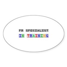 Pr Specialist In Training Oval Decal