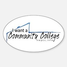 I want a Community College Oval Decal