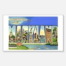 Maryland MD Rectangle Decal