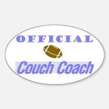 Official Couch Coach Oval Decal
