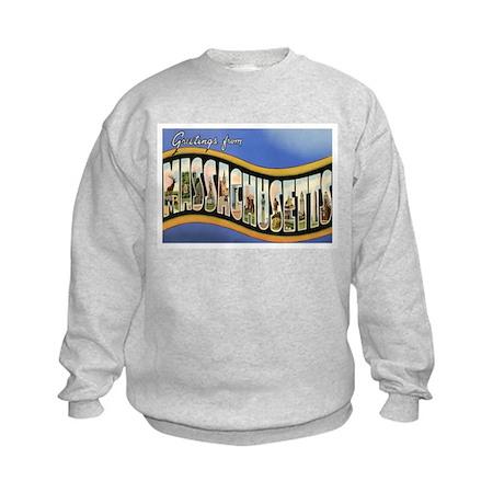 Massachusetts MA Kids Sweatshirt