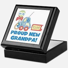 Proud New Grandpa Keepsake Box