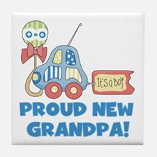 Proud New Grandpa Tile Coaster