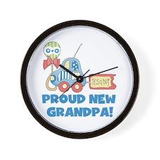 Proud New Grandpa Wall Clock