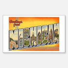 Michigan MI Rectangle Sticker 50 pk)