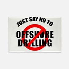Say NO to Offshore Drilling Rectangle Magnet