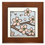 Alishan flowers Framed Tile