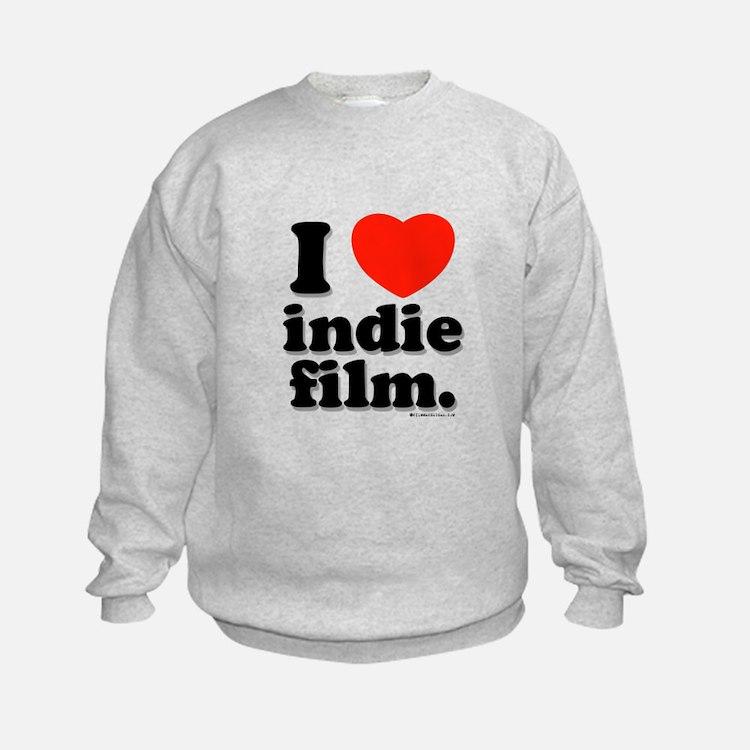 I Love Indie Film Sweatshirt